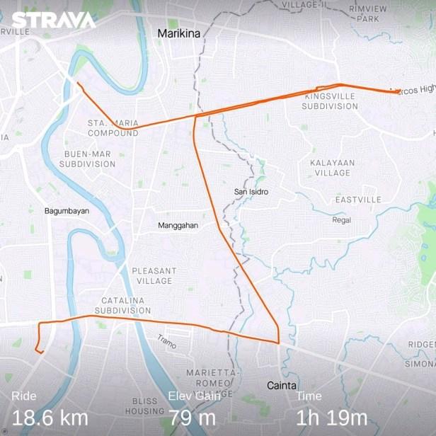 SM ride Strava route