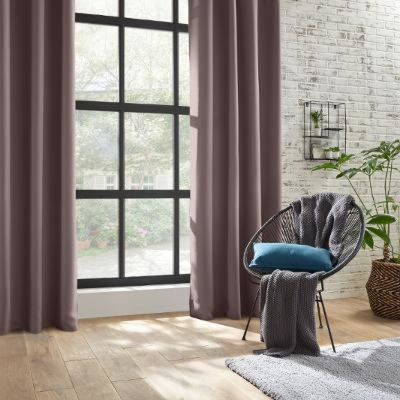 double rideaux occultant taupe atmosphera rony deco