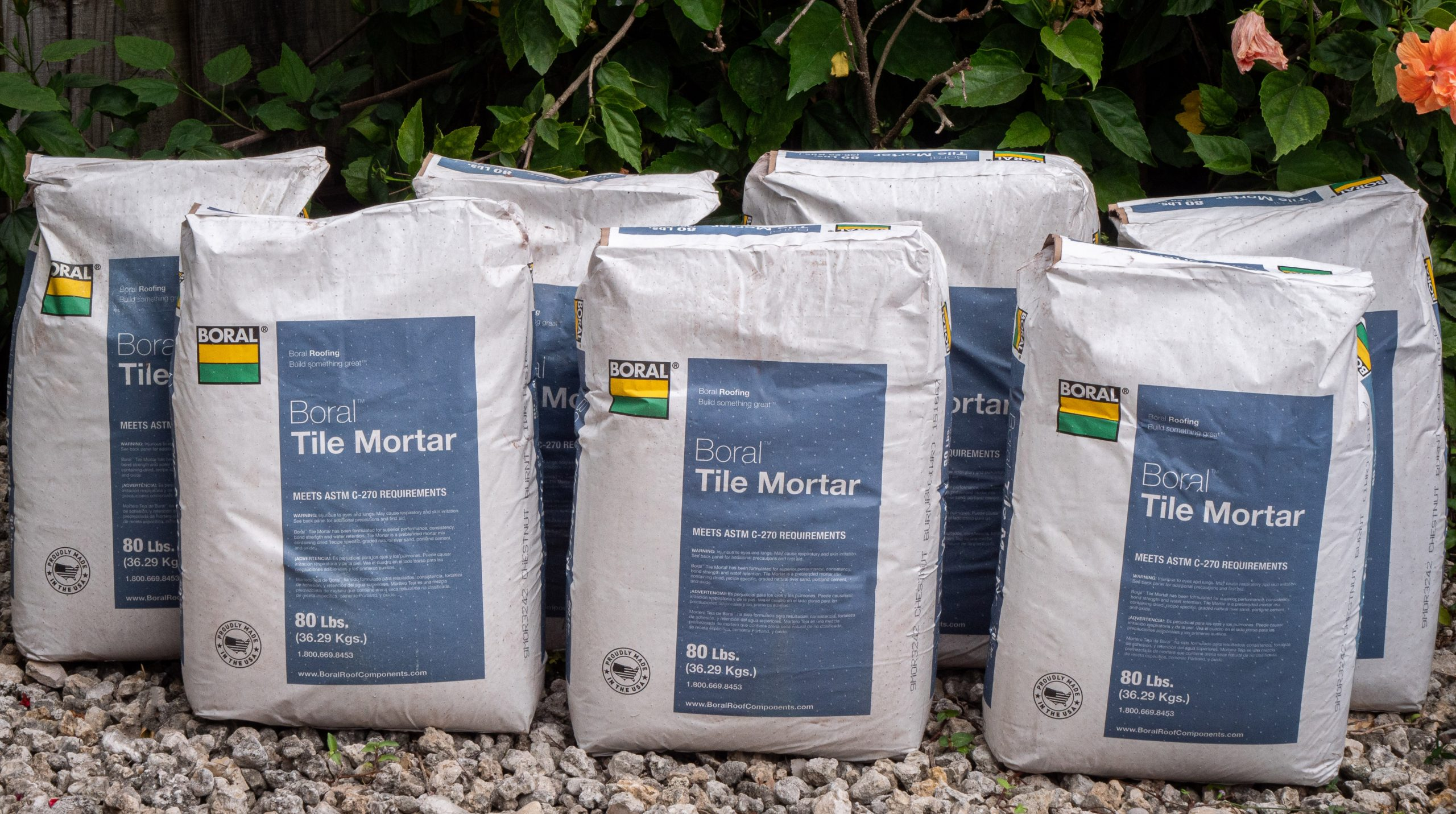 new pre colored tile mortar for the