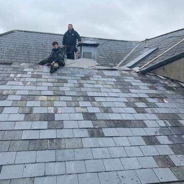 Slate Roof Repairs At The Amous Manor Hotel Roofing Solutions Sw Ltd South West