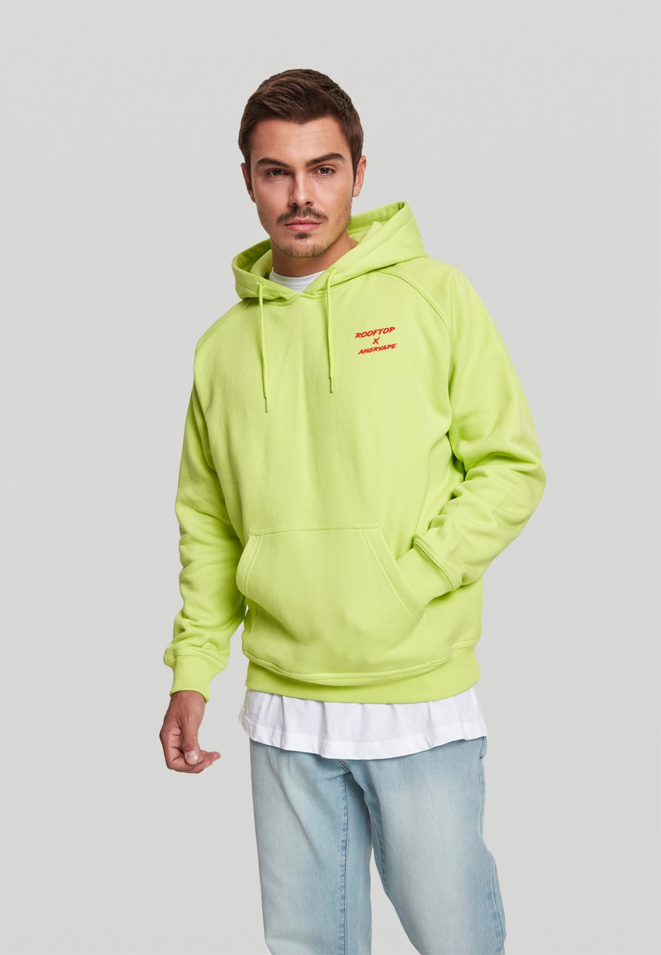 Angry Ape Hoodie Frozen Yellow