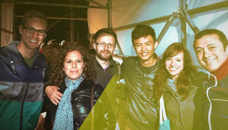 Johannes (DE), Helene (DK), Justyn (DK), Kheesuan (SG), me and Alper (TR) who I also met in Copenhagen in 2013 (FLTR)