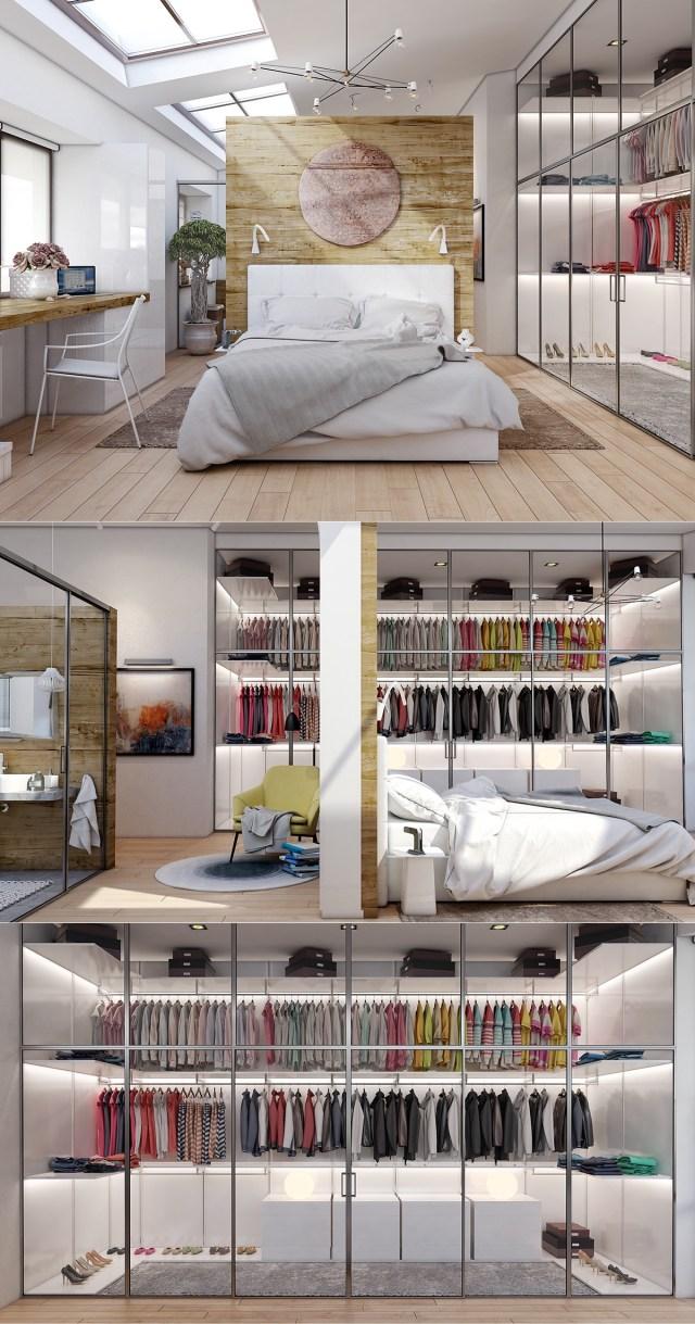 15 Luxury Bedroom Design With Elegant Wardrobe - RooHome