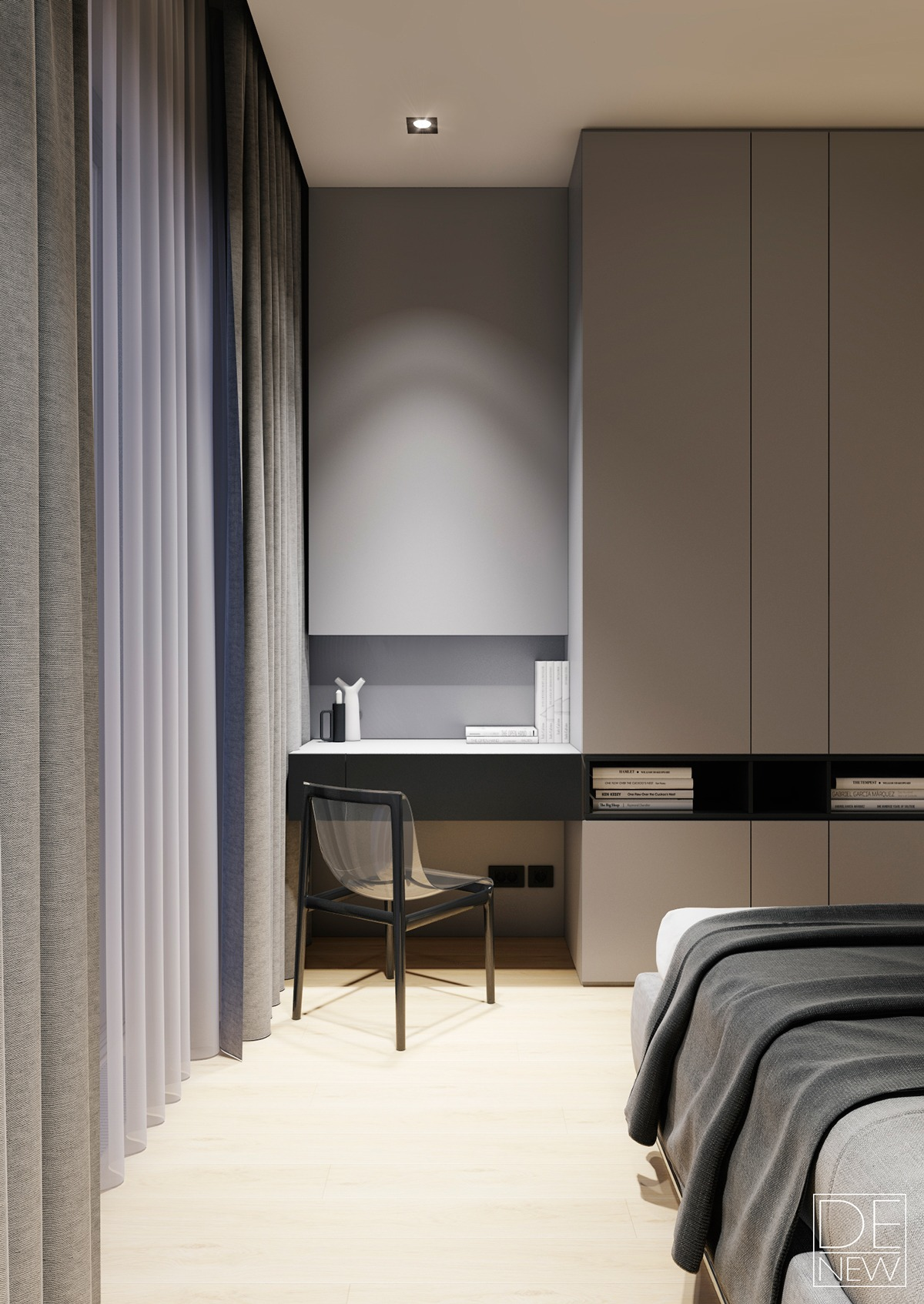 Modern Apartment Design Ideas With The Soft And Sleek Texture RooHome