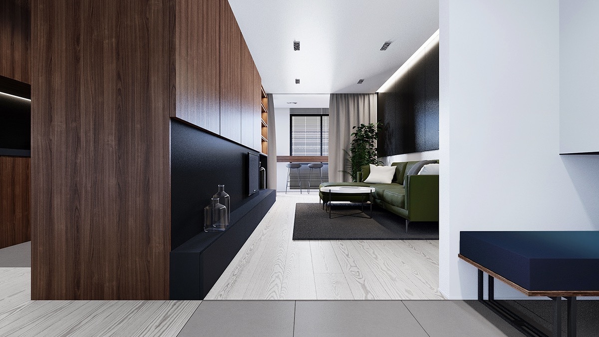 Small Apartment Ideas With Beautiful Wood Interior Design