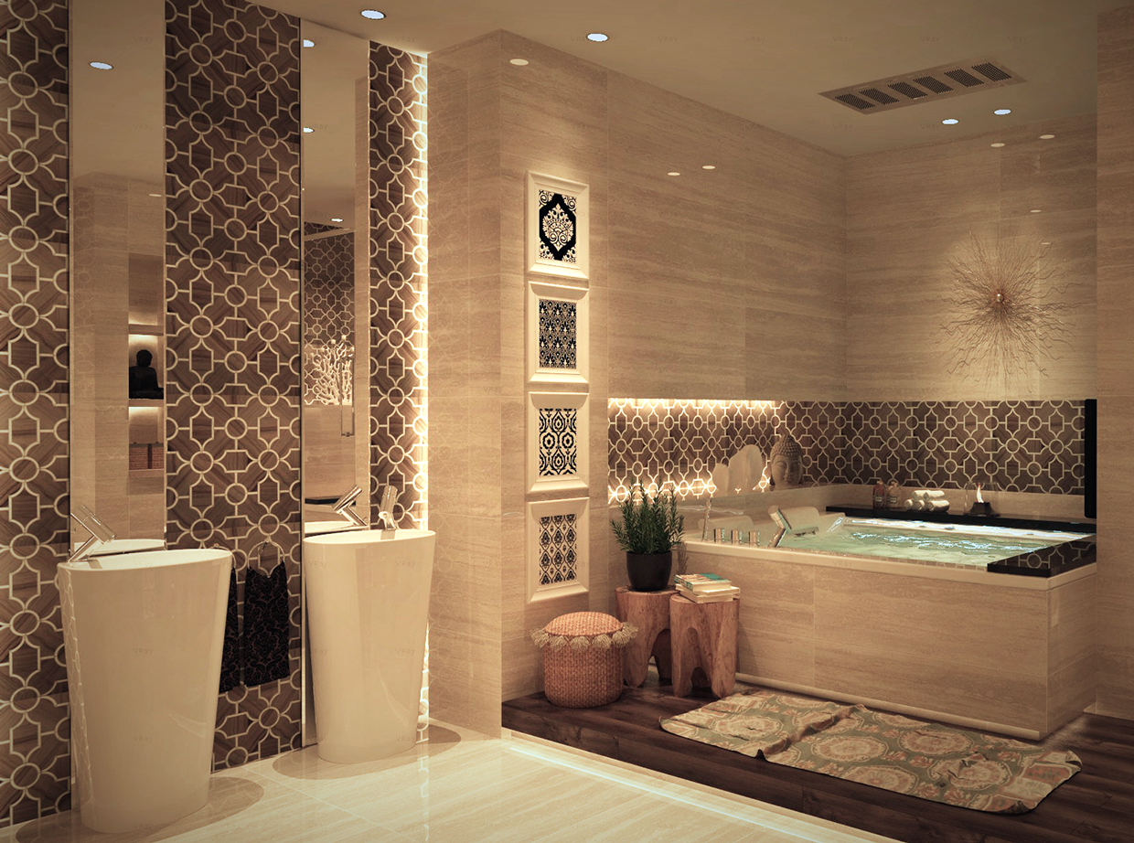 Luxurious Bathroom Designs With Stunning Decor Details Looks Very Charming RooHome