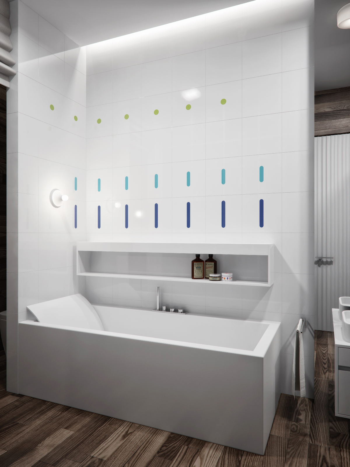Contemporary Bathroom Decor Ideas Combined With Wooden