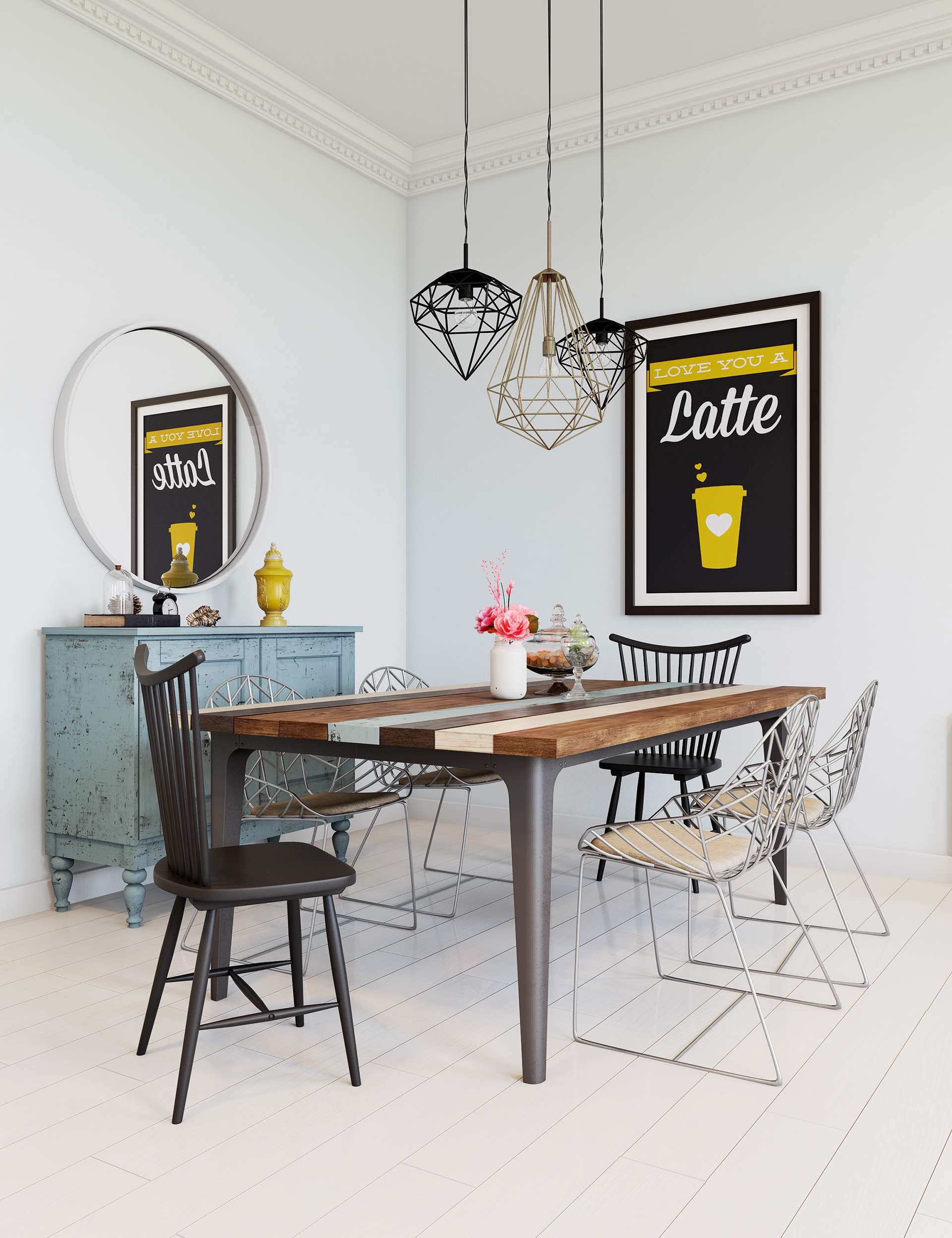Trendy Dining Rooms