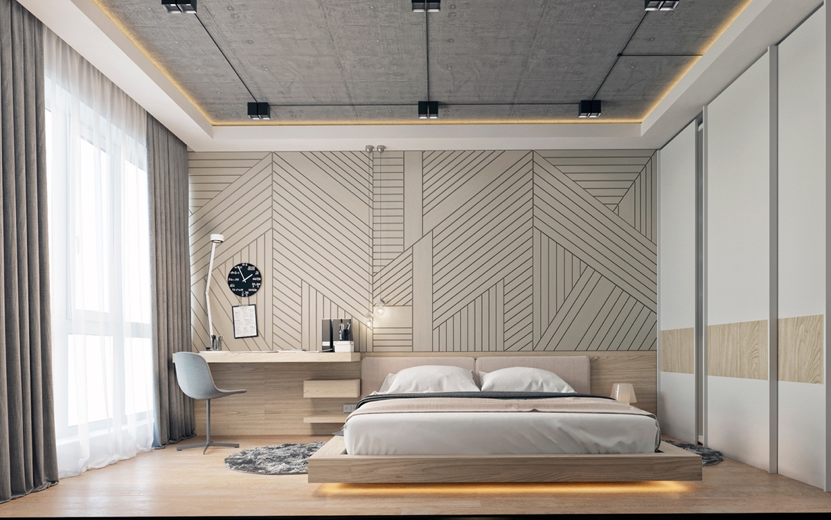 Modern Bedroom Ideas With Wooden Scheme Design Bring Out A