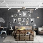 Trendy Industrial Bedroom Design With Gray And White Color Scheme Roohome