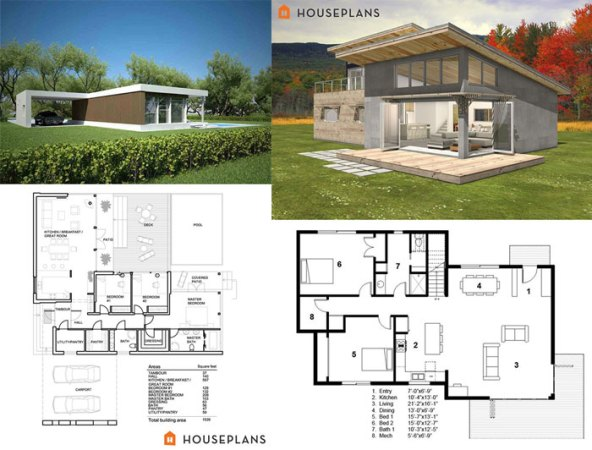 Modern House Floor Plans  Check Out How to Build your Dream House     Small Modern Floor Plans