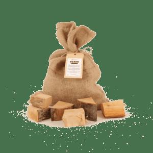 Elzen Rookhout Chunks 1kg voorkant met los