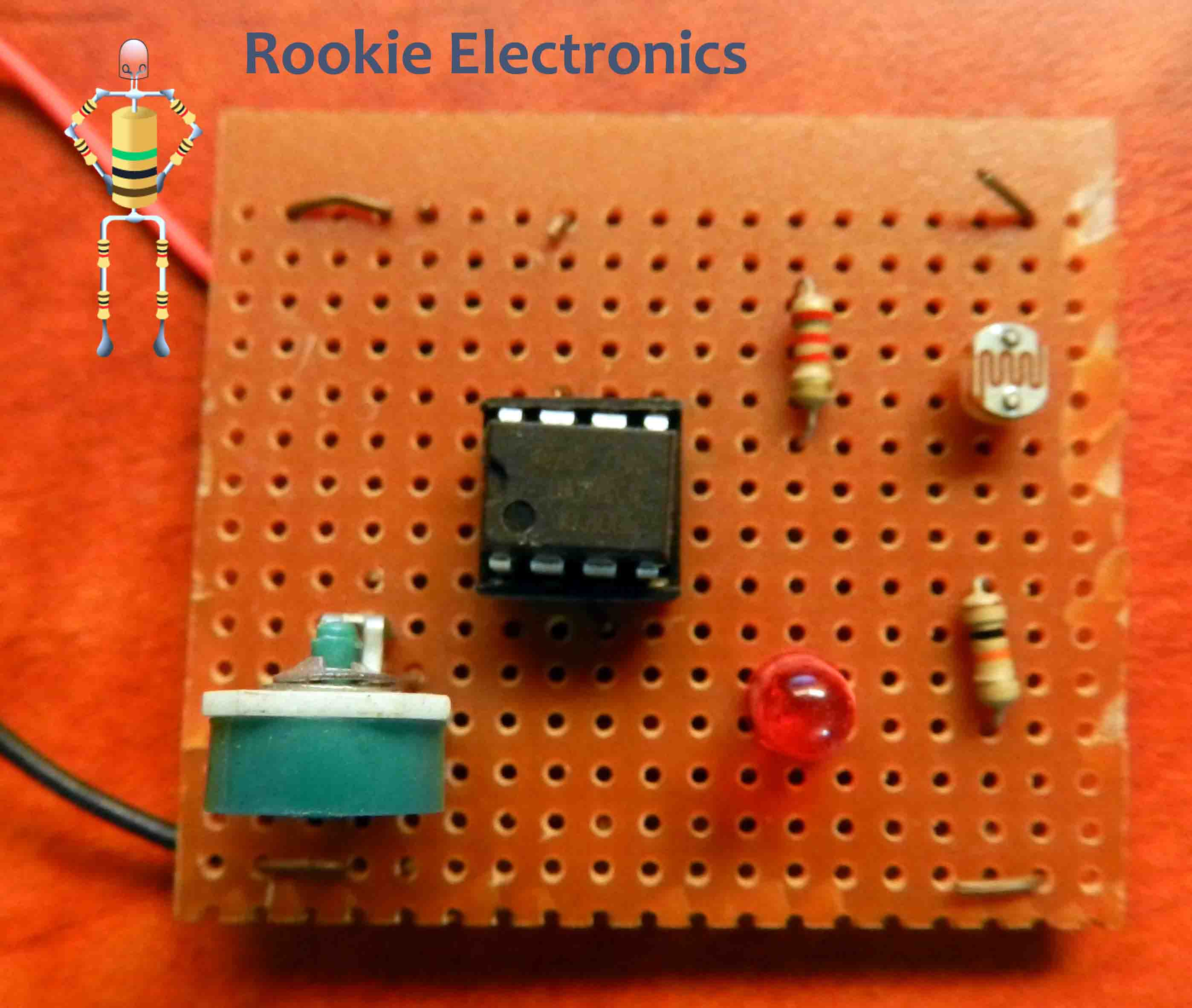 Simple Light Sensor Using 741 Op Amp Rookie Electronics