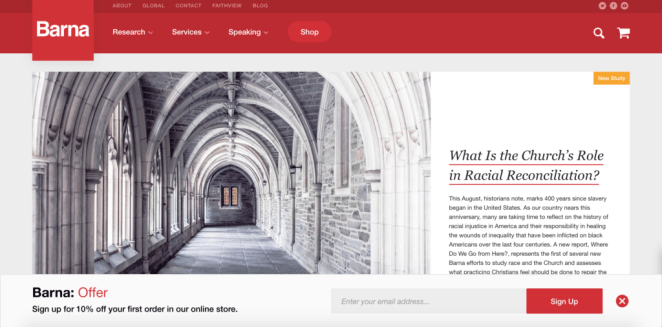 Barna Group - research site for sermon illustrations