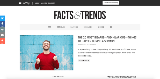 Facts & trends - a research site for sermon illustrations