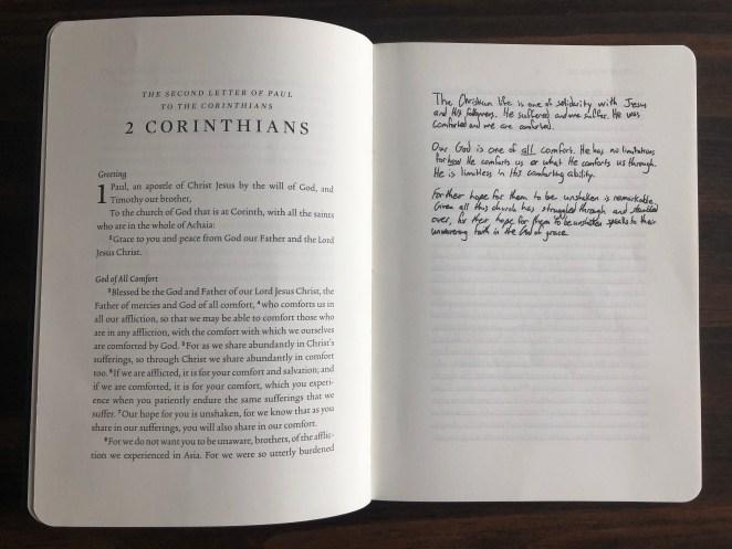 Inside of ESV Scripture Journal