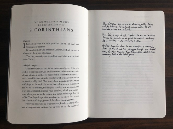 Inside of ESV Scripture Journal