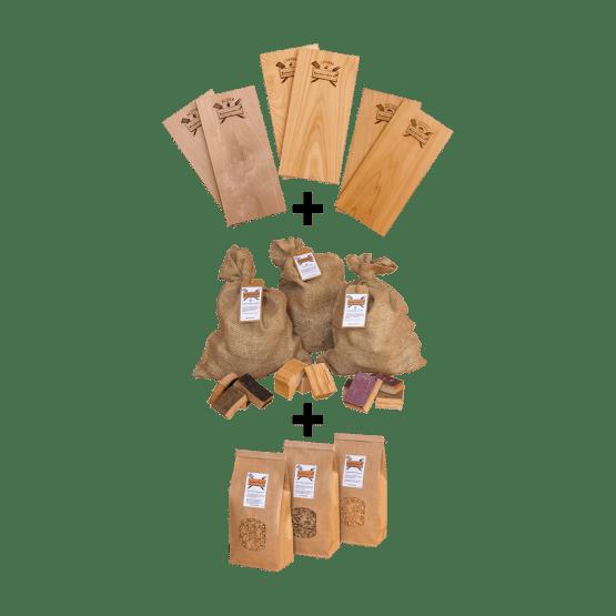 Combi-assortiment XXL | BBQ Kado-pakket | Rookplankje.nl