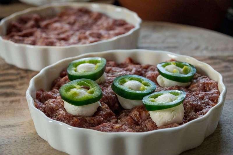 Mozzarella Jalapeno Burgers Bereiding