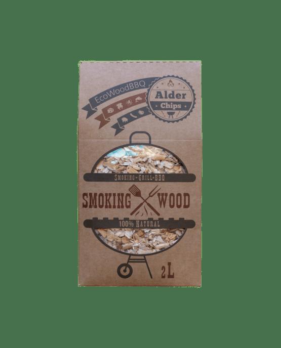 Alder Wood Chips EcoWoodBBQ | Rookplankje.nl