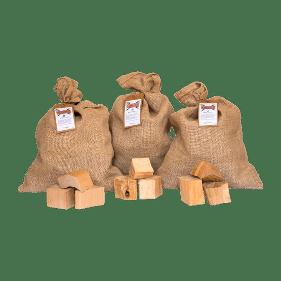 Chunks assortiment | Alder, Beech, Cherry | Rookplankje.nl