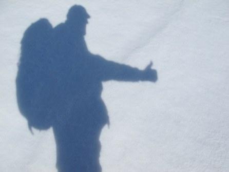 Der Schnee folgt mir auf meinen Reisen