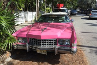 Ein pinker Cadillac in Key West. Mein neues Traumauto.