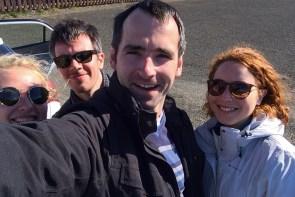 Mit Hannah, Greg und Marion auf dem Weg in die Westfjorde.
