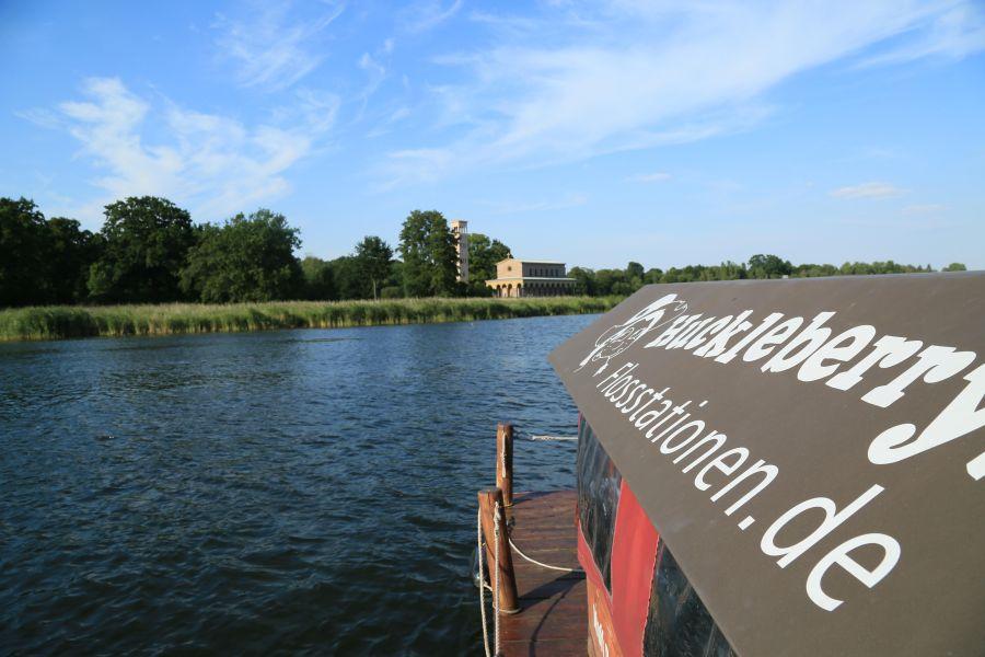 Ab Freitag übernachte ich auf dem Floß bei Beeskow.