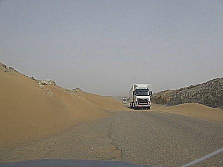 Sandige Straße Pakistan