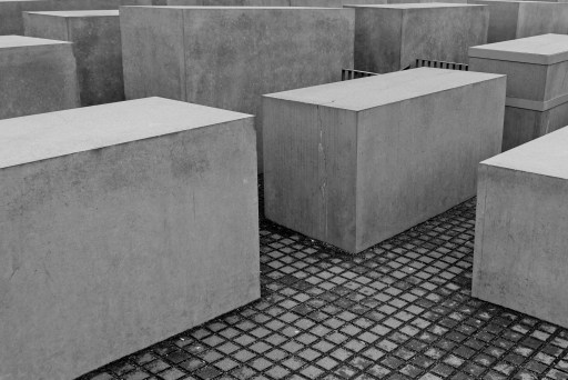 Solid concrete blocks laid in a grid