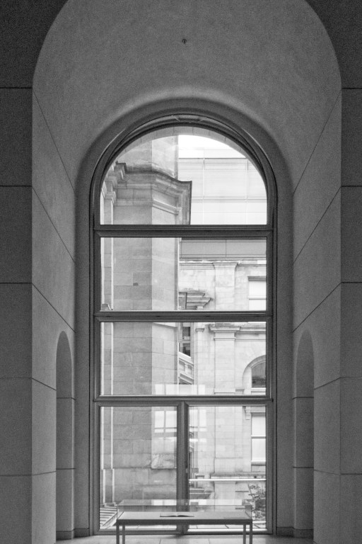 Arched top window in the Reichstag