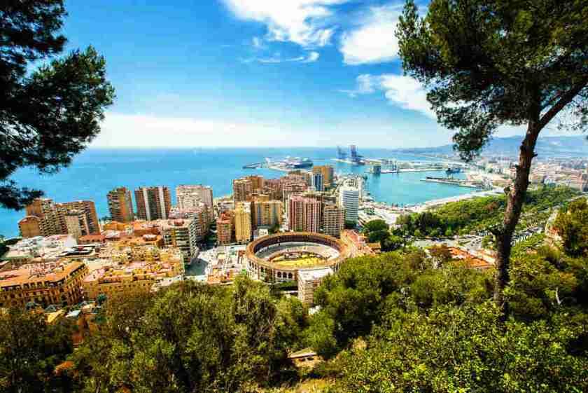 Vista de la ciudad de Málaga