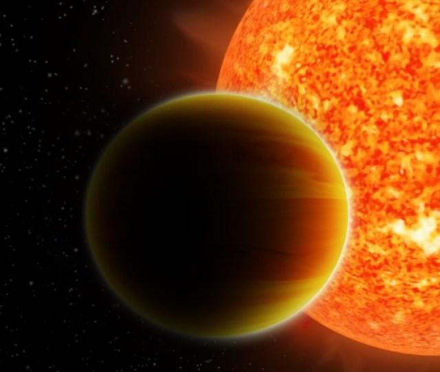 Illustration Of A Hot Jupiter Orbiting A Sun Like Star Image
