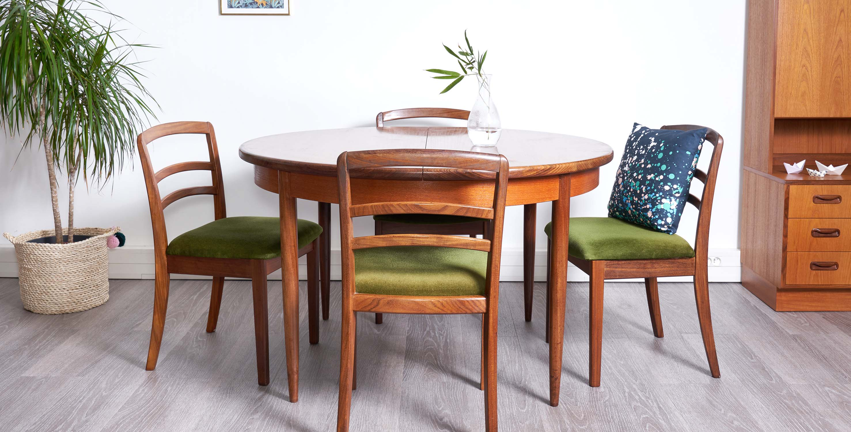 table a manger ronde extensible g plan 1960 style scandinave vendue room 30