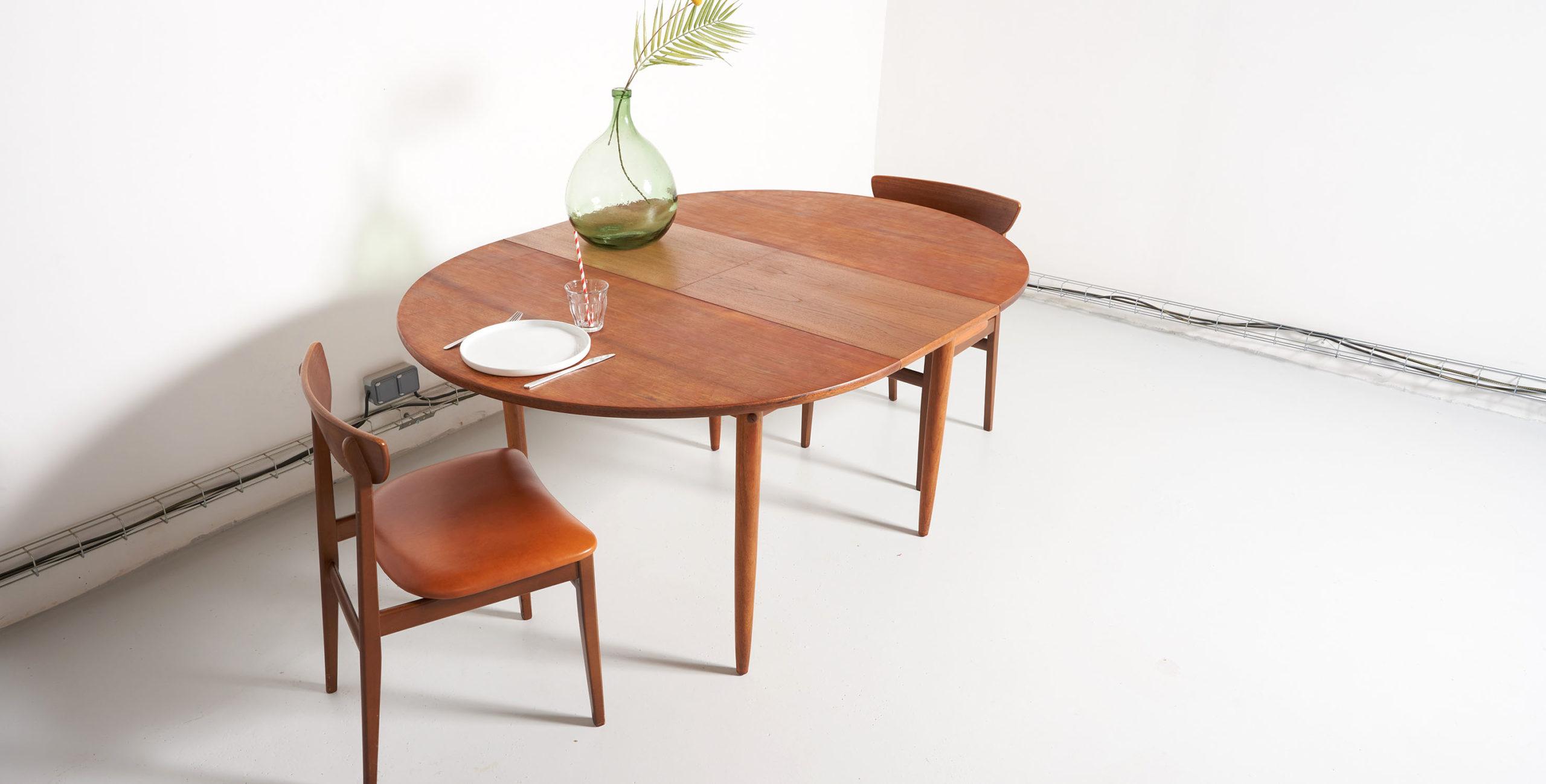 table a manger ronde vintage extensible vendue room 30