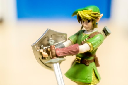 Link descends from Hyrule Castle to do battle. (Photo by Cornelius Thompson)