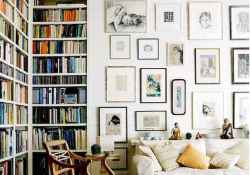 40+ super ideas for your home library with rustic design (43)