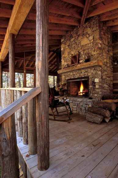 50+ most amazing rustic fireplace designs ever (20)
