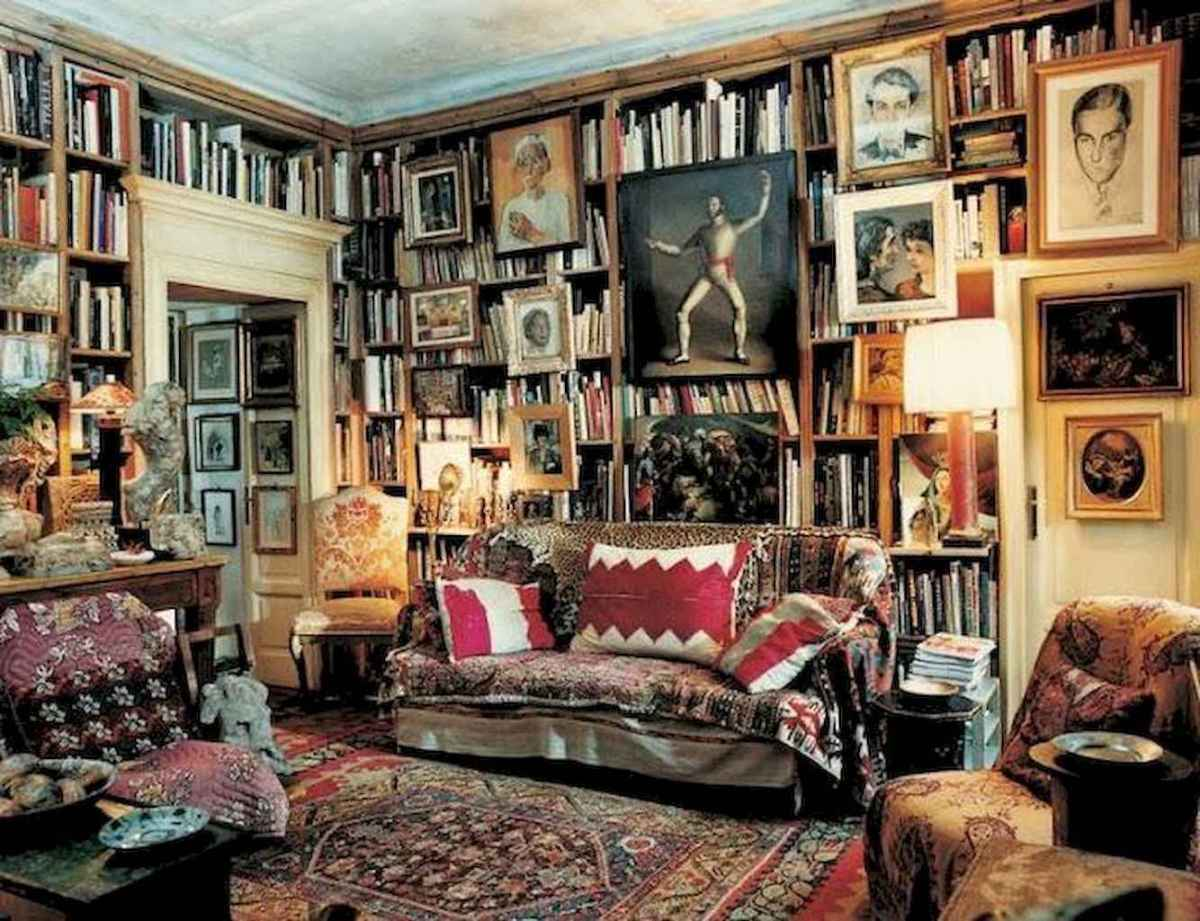 60 amazing eclectic design ideas for your library room (18)