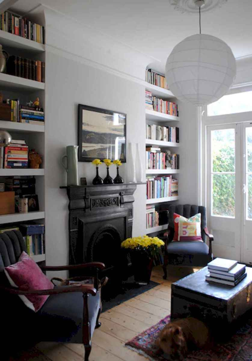 60 amazing eclectic design ideas for your library room (26)