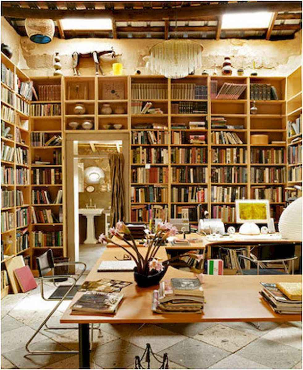 60 amazing eclectic design ideas for your library room (31)