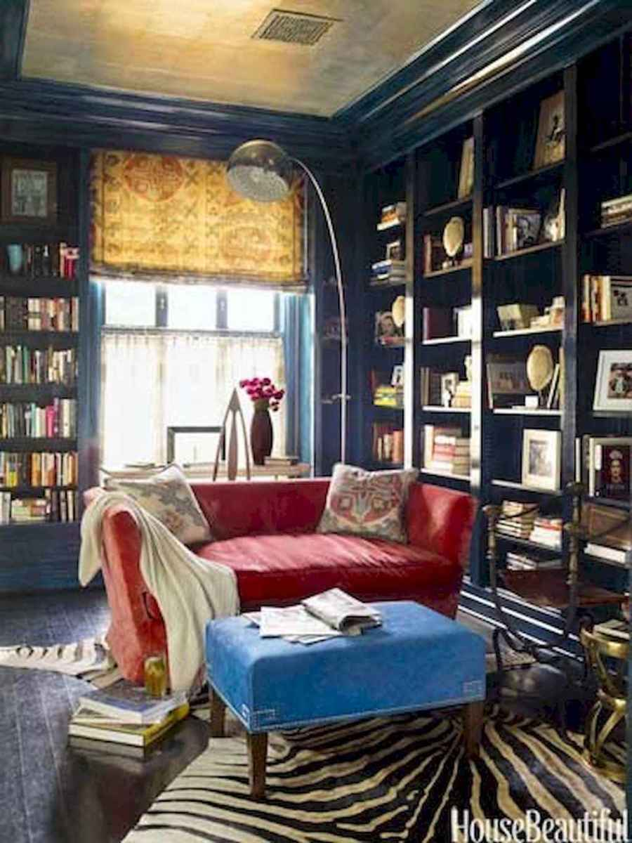 60 amazing eclectic design ideas for your library room (40)