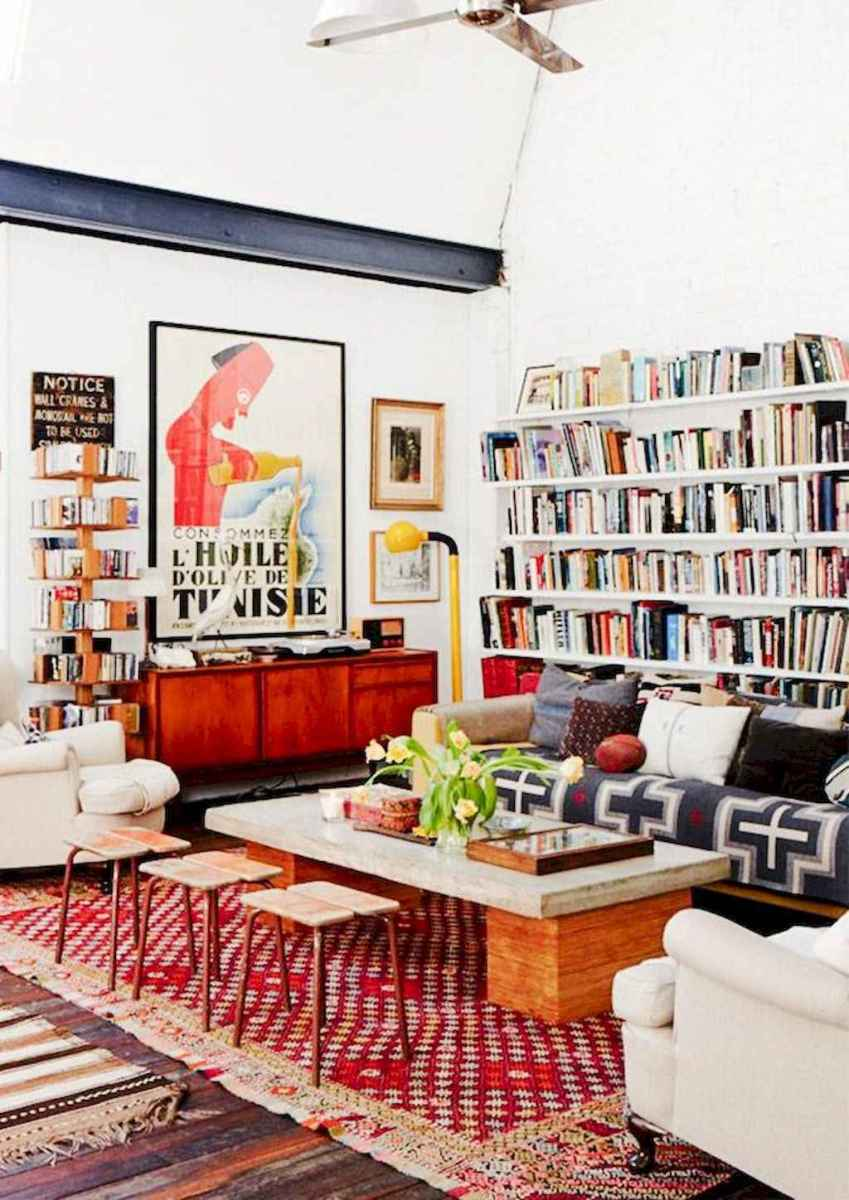 60 amazing eclectic design ideas for your library room (51)
