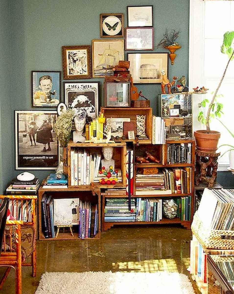60 amazing eclectic design ideas for your library room (57)