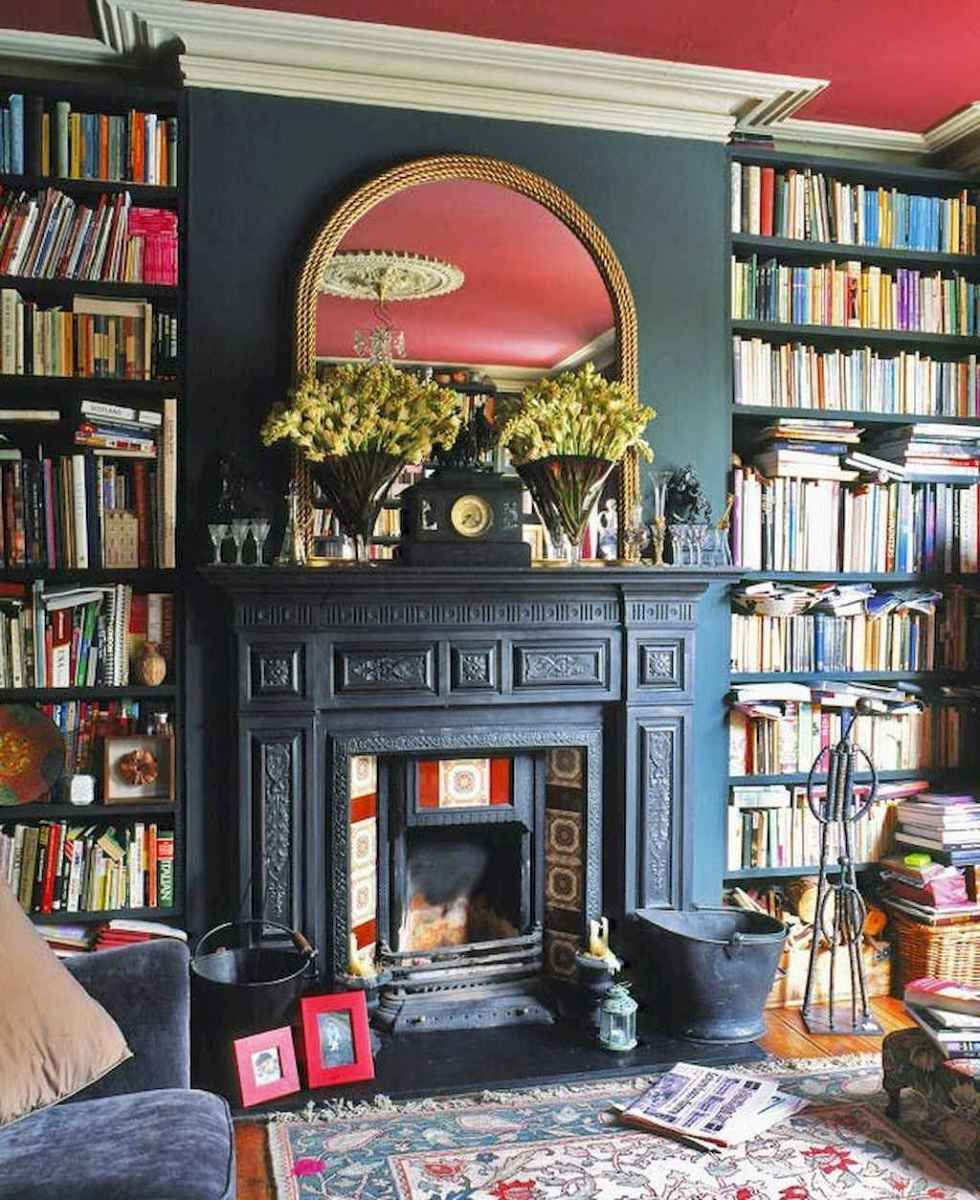 60 amazing eclectic design ideas for your library room (59)