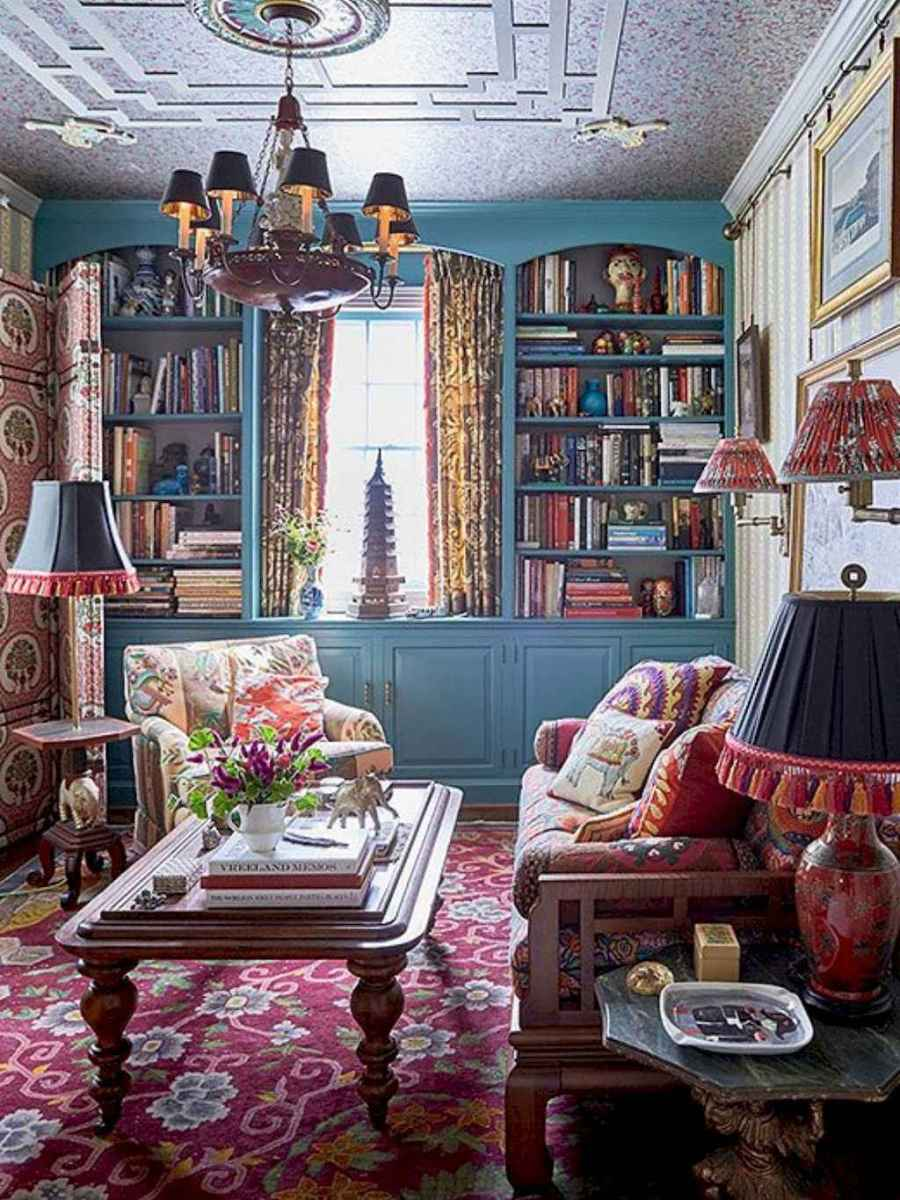 60 amazing eclectic design ideas for your library room (8)