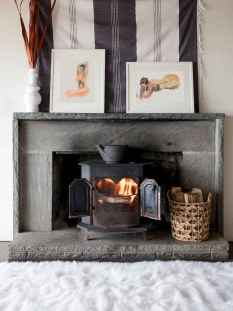 60 beautiful eclectic fireplace decor (57)