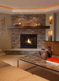 60+ cozy corner fireplace ideas for your home (20)