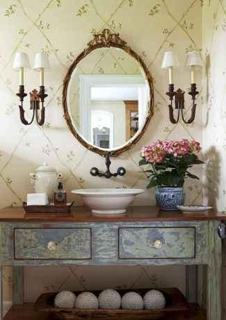 60 cute inspired vintage powder room (57)